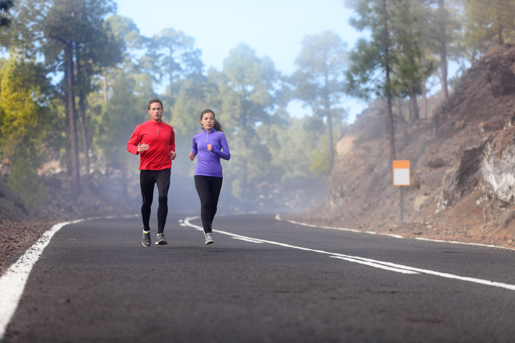 two girls doing recovery running a run type