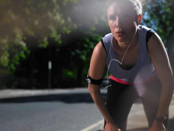 properly breathing while running